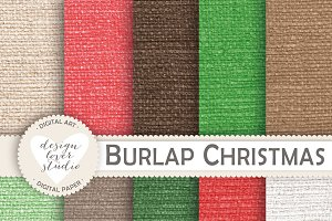 Christmas Burlap background