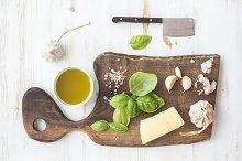 Pesto sauce cooking set