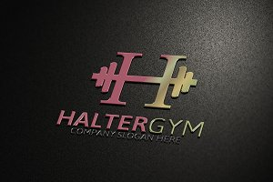 Halter Gym Logo Discount % 25