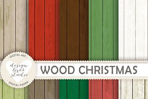 Christmas wood backgrounds