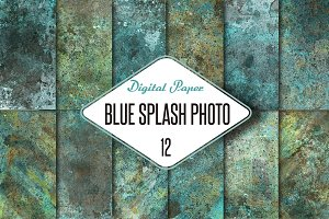 12 Blue splash photo-textures.