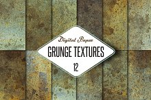 12 Grunge textures-photo pack