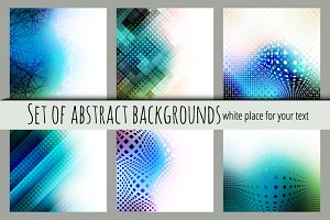 Abstract backgrounds for a text