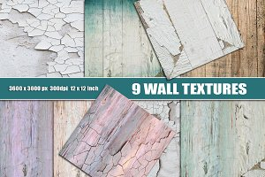 Painted wall cracks texture overlay