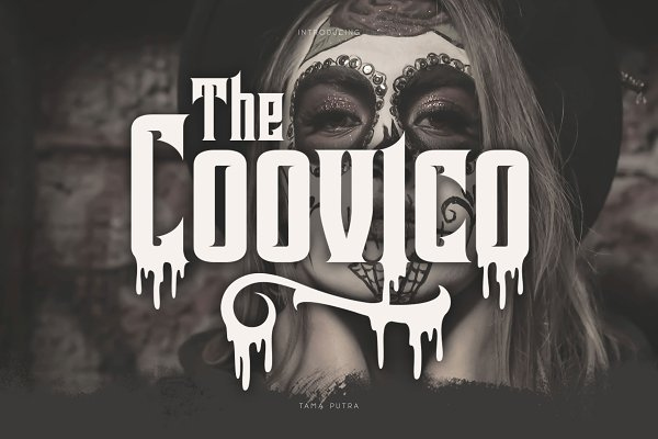 Best Coovico Bloody Typeface 30% Off Vector