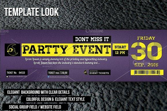 Night Party Ticket ~ Invitation Templates on Creative Market