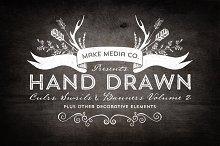 Hand Drawn Curls & Banners Vol. 2