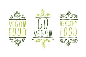Go vegan - herbal elements