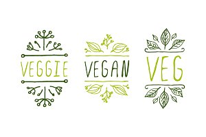 Vegan product elements - tags