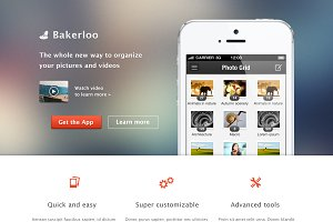 Bakerloo theme - App Landing Page