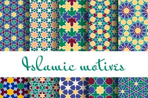 Arab spring seamless pattern set