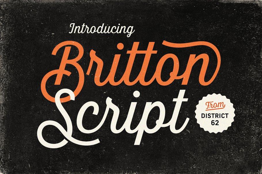 Best Britton Script Vector
