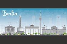 Berlin skyline with grey buildings