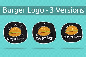 Burger Logo - 3 Versions