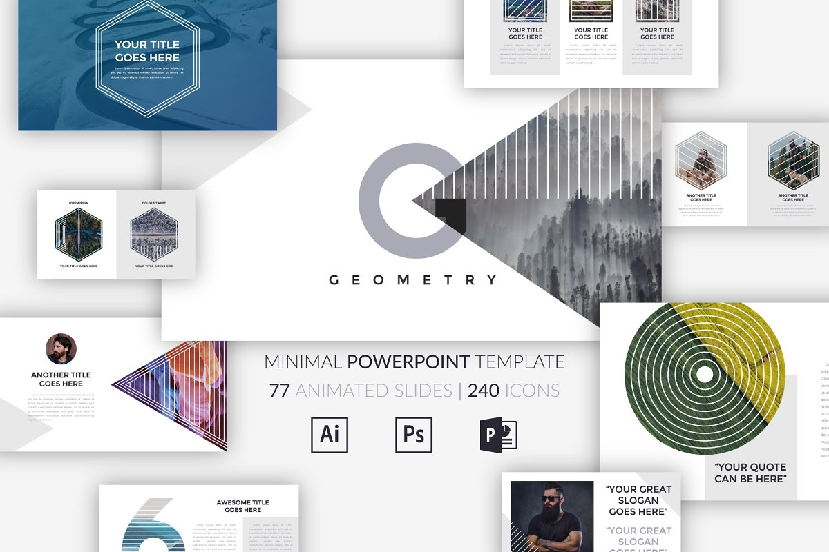 Geometry Minimal Powerpoint Template Powerpoint Templates