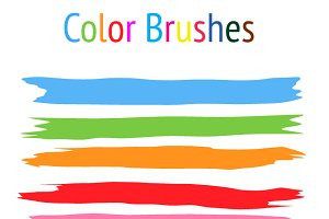 40 Color Brushes - Illustrator