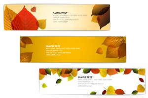 Fall Horizontal Banners Templates