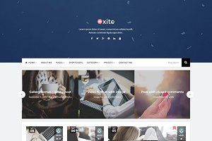 Oxite Bootstrap WordPress Blog Theme