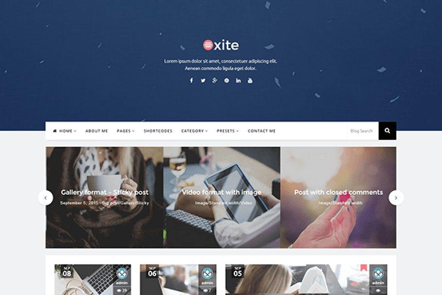 Oxite Bootstrap WordPress Blog Theme