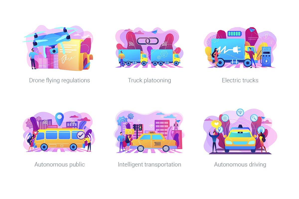 Smart City concept illustrations