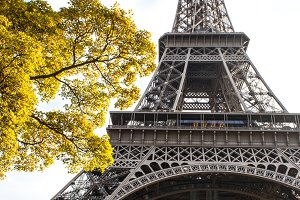 Eiffel Tower Paris in autumn