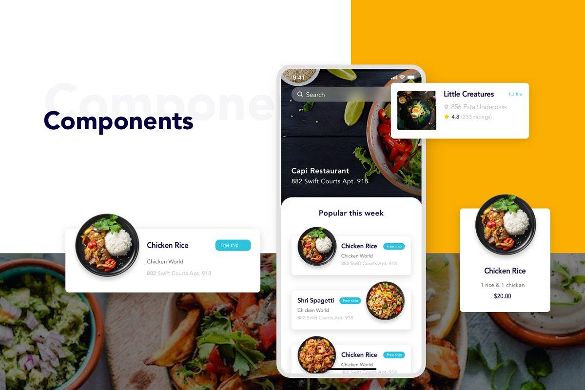Foode - Best Food Order Mobile App ~ App Templates ~ Creative Market