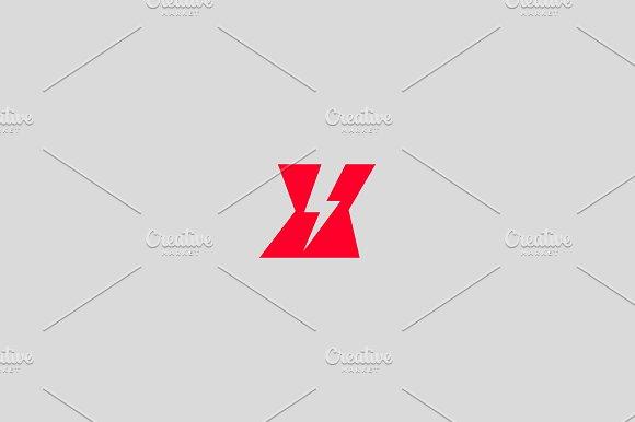 Letter X logo. Dynamic flash sign. - Logos