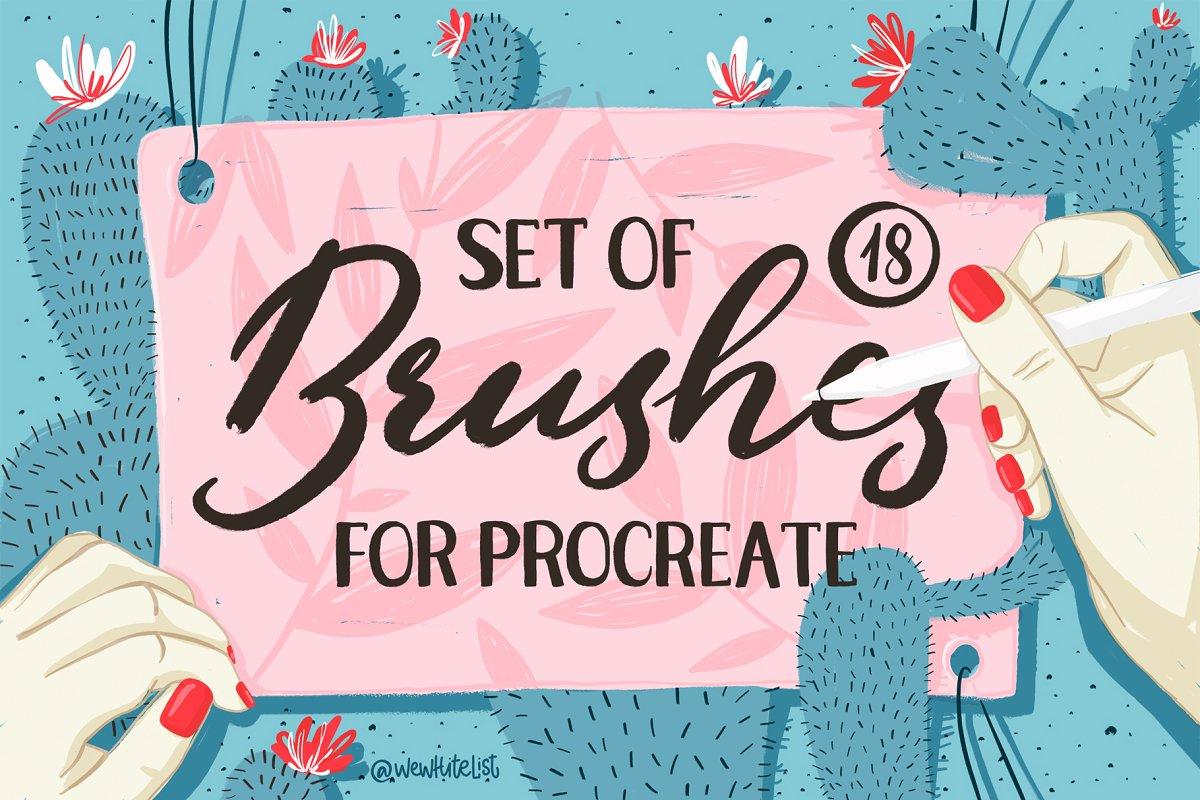 18 Beautiful Brushes for Procreate.