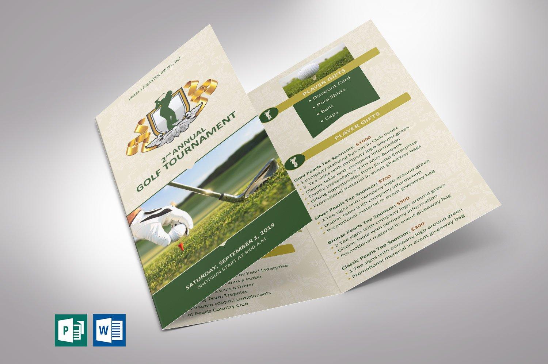 Golf Tournament Brochure - Word | Creative Brochure ...