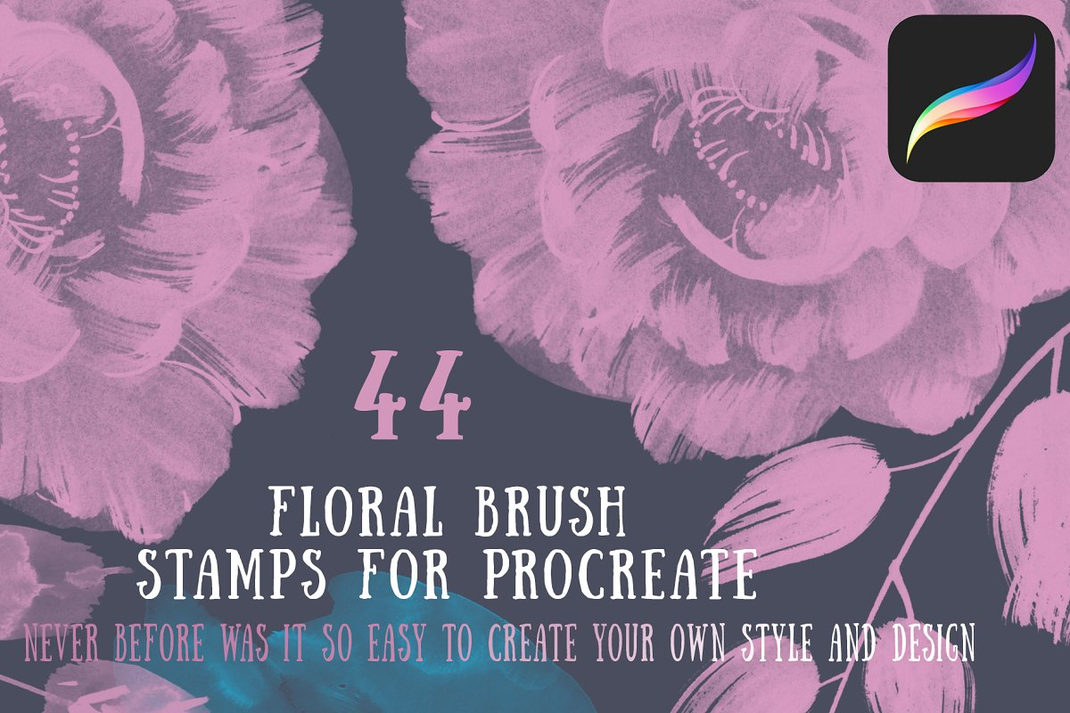 Floral Brush stamps for Procreate