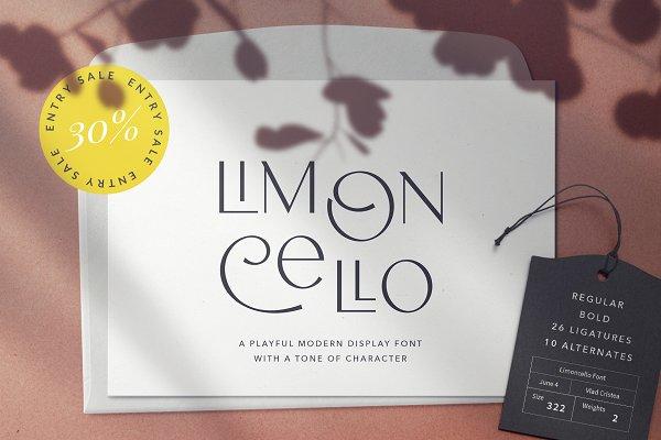 Limoncello Playful Font