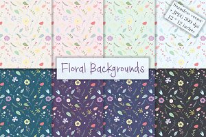 Floral Seamless Backgrounds