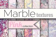 20 marble textures. Pink collection.