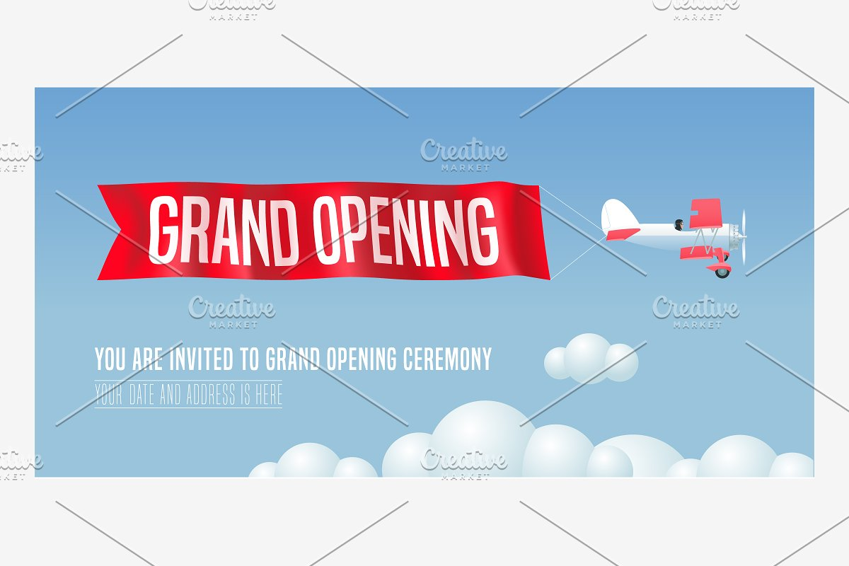 Vector Grand Opening Banner