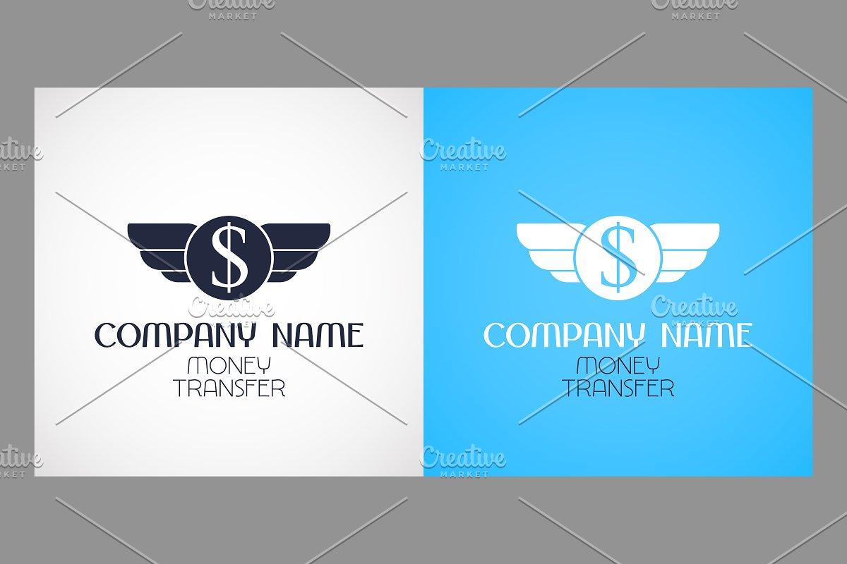Express money transfer vector logos