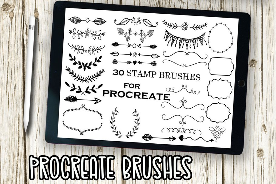 Procreate Stamp Brushes Floral Stamp