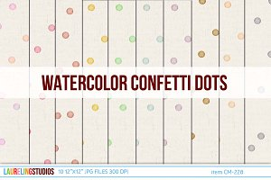 digital paper with confetti dots