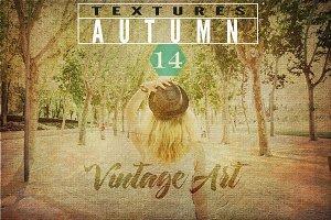 Autumn textures, Vintage art II