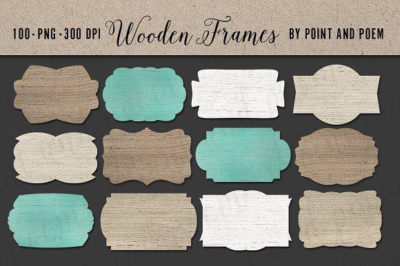 Wood Frames Mega set 100 pieces
