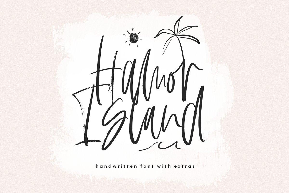 Hamor Island - Script Font & Extras