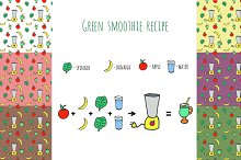 Green smoothie recipe + patterns
