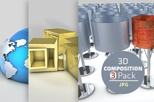 3d Composition - 3 Pack (JPG)