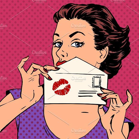 girl with envelope letter