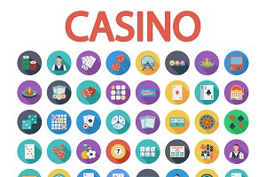 Casino icons set.