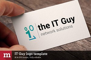 IT Guy logo template