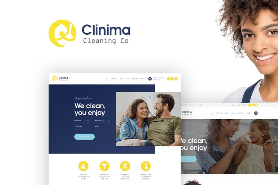 Clinima - Cleaning Services WP Theme