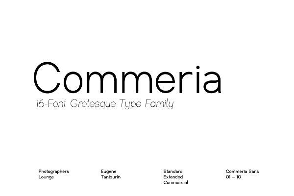 Commeria — Grotesk Sans Serif Family