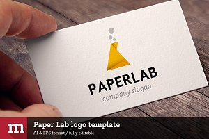 Paper Lab logo template