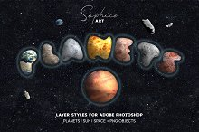 PLANETARIUM Photoshop Creative Kit by  in Layer Styles