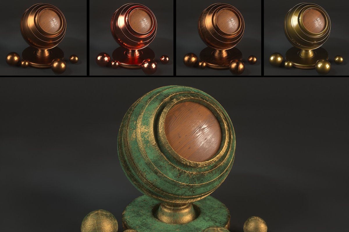 15 Bronze Shaders for C4D Octane